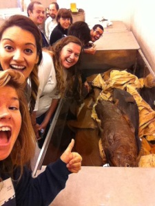 Coelacanth selfie with the 2013 Ihcthyology class!