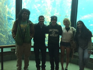 The Kelp Tank at the Monterey Bay Aquarium with some of the 2016 Ichthyology class!
